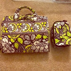 Vera Bradley makeup bag and jewelry holder